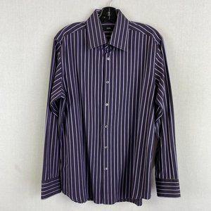 HUGO BOSS Stripe Dark Purple Shirt